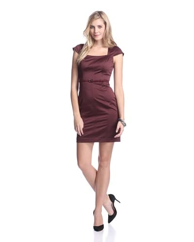 Marc New York Women's Belted Cap Sleeve Dress