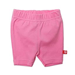 Zutano Baby-girls Infant Primary Solid Bike Shorts, Hot Pink, 6 Months