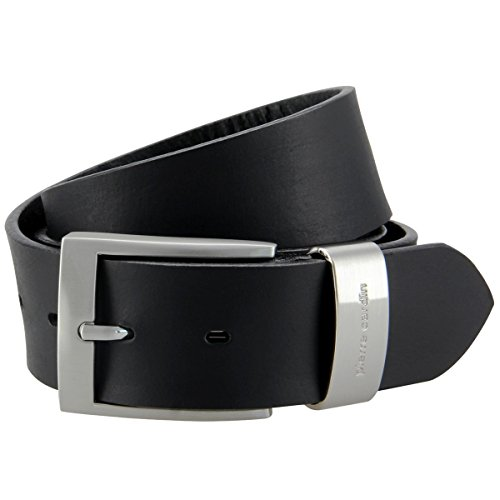Mens leather belt / Mens belt Pierre Cardin, XXL, black, 70007, Size:130