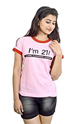 Eeia Women's Top (E010l_Pink_Large)