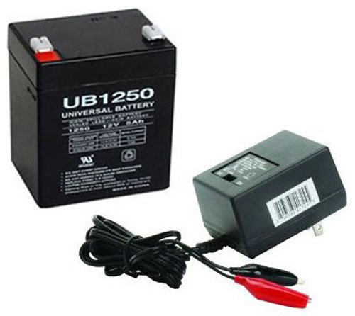 UPG UB1250 12V 5AH SLA BATTERY COMBO WITH CHARGER