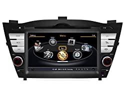 See susay for Hyundai Tucson IX35 2011-2012 Car DVD Player With GPS Navigation(free Map)Audio Video Stereo System with Bluetooth , USB/SD, AUX Input, Radio(AM/FM), TV, Plug & Play Installation Details