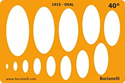 Metric 40 Degrees Ellipse Ellipses Oval Shape Symbols Drafting Drawing Template Stencil
