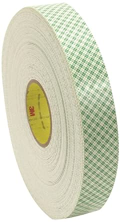 """3M Double Coated Urethane Foam Tape 4016, 3/4"""" x 36 yd 1/16"""", Off-White (Pack of 12)"""