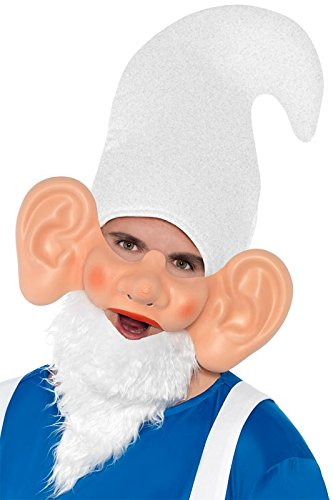 Smiffy's Men's Garden Gnome Mask and Ears, Multi, One Size