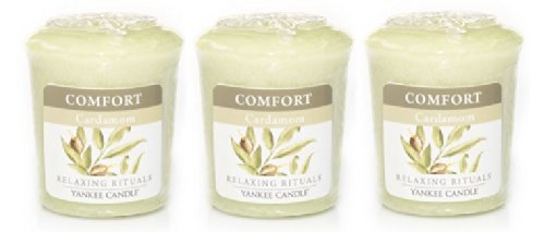 3 Yankee Candle Relaxing Ritualstm Comfort Blended Cardamom Sampler® Votive Candles 1.75 Oz Each