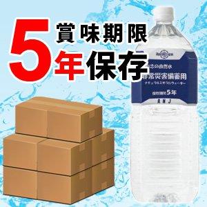志布志の自然水 非常災害備蓄用 2L×6本 (5年保存水)