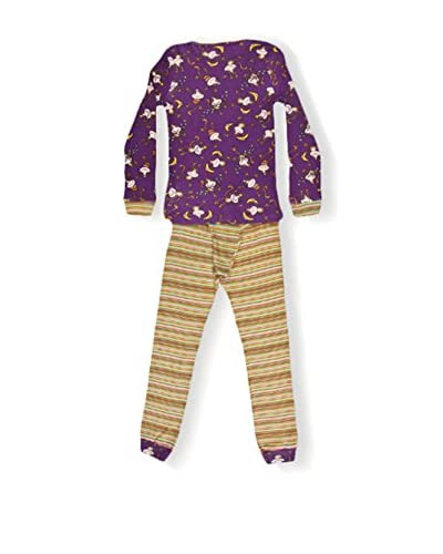 CUSTO GROWING Pijama Namaste Monkeys Morado / Camel