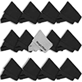 (13 Pack) MagicFiber Microfiber Cleaning Cloths - For Tablets, Lenses, and Other Delicate Surfaces (12 Black, 1 Grey)