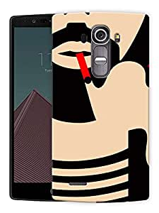 "Man Beard And Smoke Printed Designer Mobile Back Cover For ""LG G4"" By Humor Gang (3D, Matte Finish, Premium Quality, Protective Snap On Slim Hard Phone Case, Multi Color)"