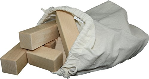 20 extra große und unbehandelte Holzbausteine