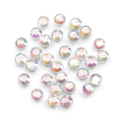 Darice 400-Piece Aurora Borealis Hot Fix Glass Stones, 5ml