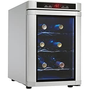 The Danby DWC620PL-SC Maitre�D 6 Bottle Countertop Wine Cooler, in platinum, is not only compact but extremely energy eff