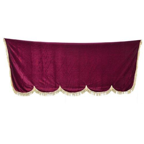 Quasten Verzierung Burgundy Staubschutz Klavierbank Halbgarage, 1,8 x 1,9 m