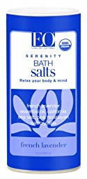 EO Serenity Bath Salts, French Lavender, 22-Ounce Canisters Bags (Pack of 3)