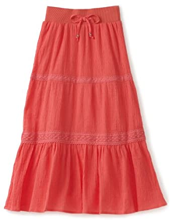 Amazon.com: My Michelle Big Girls' Maxi Skirt, Coral