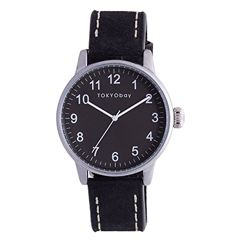 tokyobay-t626-bk-mens-stainless-steel-black-leather-band-black-dial-smart-watch
