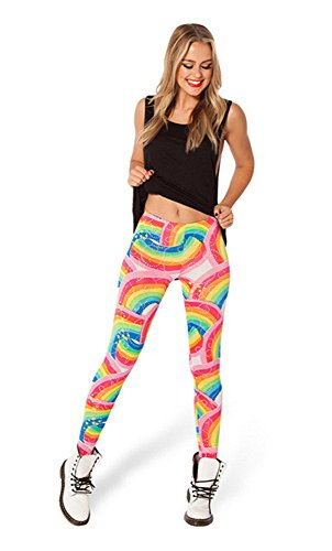 High Quality Rainbow Sky Women Digital Print Leggings Stretchy
