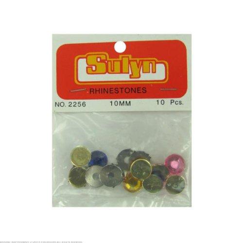 24 Large rhinestones; multiple colors; pack of 10