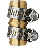 "Orbit Brass 5/8"" Water Hose Repair Mender With Clamps"