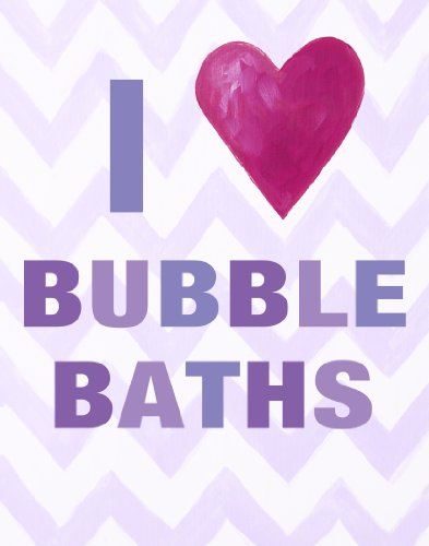 Cici Art Factory Wall Hanging, I Heart Bubble Baths Lilac