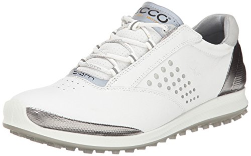 ECCO Women's Biom Hybrid 2 Golf Shoe,White/Silver,38 EU/7-7.5 M US