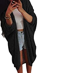 Bluester Womens Lady Casual Knit Sleeve Sweater Coat Cardigan Jacket
