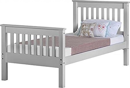 Single 3Ft Bett Basis in grau