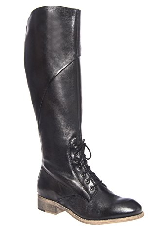 Serpentite Low Heel Tall Lace Up Boot