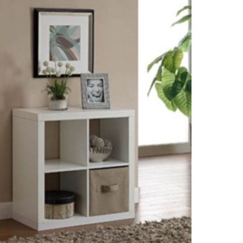 Better Homes And Gardens Bookshelf Square Storage Cabinet 4 Cube Organizer White