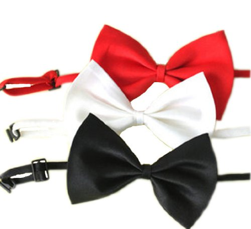 SKL Set of 3 Adjustable Dog Bow Tie Pet Collar Perfect for Wedding Tie Party Accessories