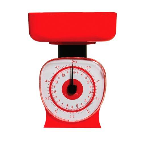 Premier Housewares 0807235 Balance de Cuisine Plastique Rouge 5 kg