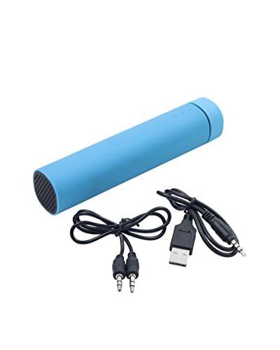 Power Bank 3500 Mah 3 En 1 Con Altavoz Y Soporte Azul