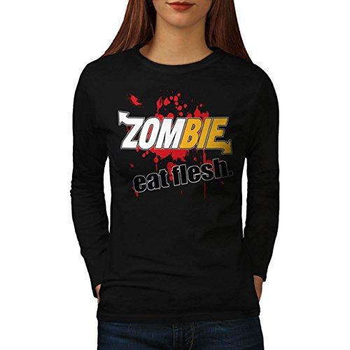 zombie-eat-flesh-food-sub-parody-women-new-black-l-long-sleeve-t-shirt-wellcoda