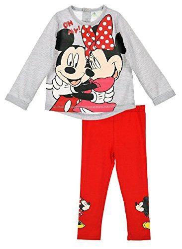 Mallas-y-camiseta-beb-nia-Minnie-y-Mickey-Rosa-y-gris-de-6-a-24-Meses-rosa-Grisrouge-Talla6-meses