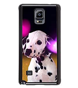 iFasho Black and White Dot Dog Back Case Cover for Samsung Galaxy Note 4