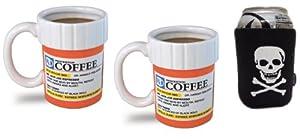 2 Big Mouth Toys The Prescription Coffee Mug and 1 Pirate koozie