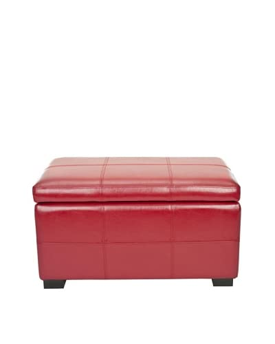 Safavieh Madison Storage Bench Small, Red