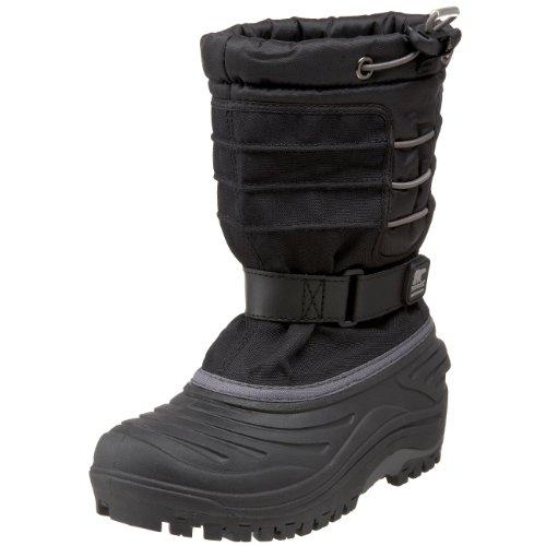 Sorel Snow Trooper 1804 - Waterproof Winter Boot (Toddler/Little Kid/Big Kid),Black,4 M US Big Kid