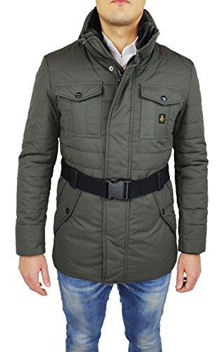 Giubbotto piumino uomo Refrigiwear art G64600 grigio giubbotto invernale lungo giaccone Man's Jacket (L)