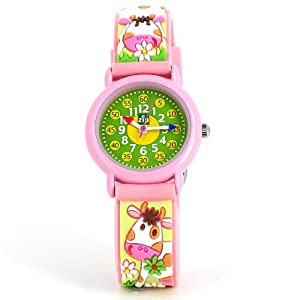 Baby Watch Kid's Green Cow Time Teacher Watch: Amazon.co.uk: Watches