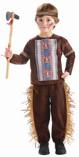 Toddler Native American Indian Brave Costume Size 2-4T