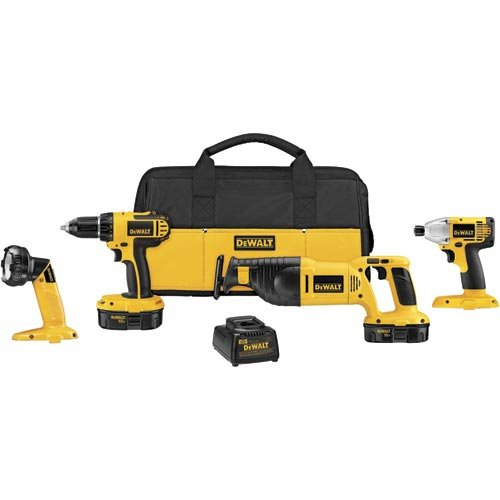 Factory-Reconditioned Dewalt DCK425CR 18-Volt 4-Tool Cordless Compact Combo Kit