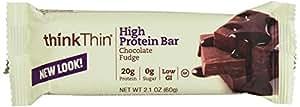ThinkThin Protein Bars Chocolate Fudge, 2.1 oz, 10 pk