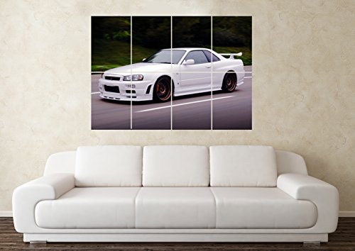large-nissan-skyline-gtr-r34-32-33-35-drift-car-wall-poster-art-picture-print