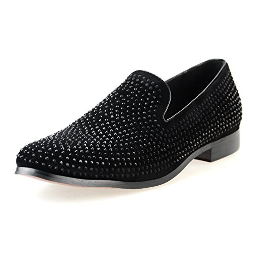Endevice Men's Slip On Loafer Operaa Shoes Driving Shoes Star Studs Black Brown White