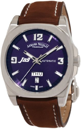 Armand Nicolet Men's 9650A-BU-P865MR2 J09 Casual Automatic Stainless-Steel Watch