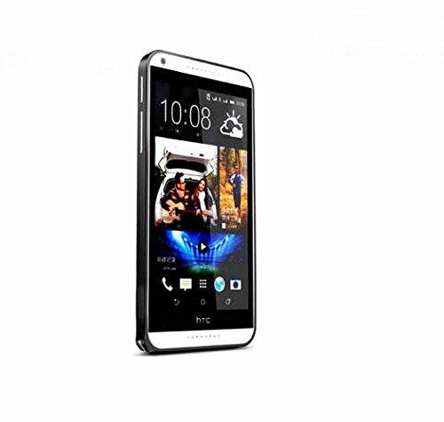 eShop24x7 Slim 0.7mm Aluminium Metal Bumper Frame Case Cover with Hook Lock for HTC Desire 816 Black