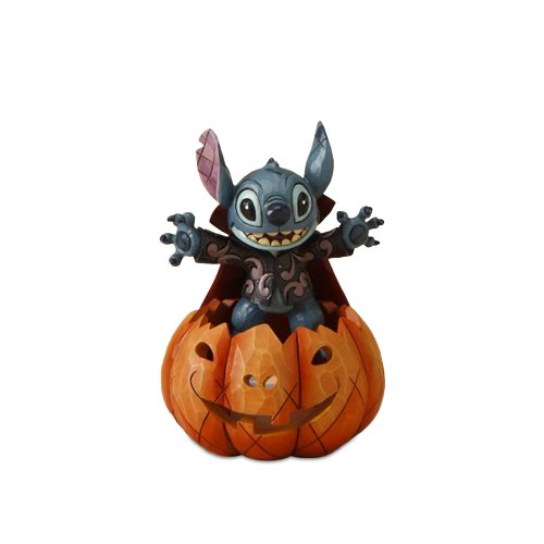 Amazon.com - Disney Traditions by Jim Shore 4016579 Stitch Popping Out of a Pumpkin Figurine, 7