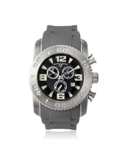 Swiss Legend Men's 10067-01-GRYS Commander Grey/Black Silicone Watch